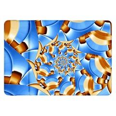 Gold Blue Bubbles Spiral Samsung Galaxy Tab 8 9  P7300 Flip Case by designworld65