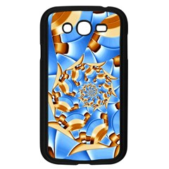 Gold Blue Bubbles Spiral Samsung Galaxy Grand Duos I9082 Case (black) by designworld65