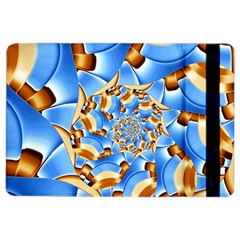 Gold Blue Bubbles Spiral Ipad Air 2 Flip