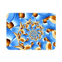 Gold Blue Bubbles Spiral Double Sided Flano Blanket (mini)