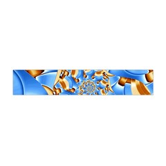 Gold Blue Bubbles Spiral Flano Scarf (mini) by designworld65