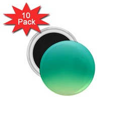 Sealife Green Gradient 1 75  Magnets (10 Pack)  by designworld65