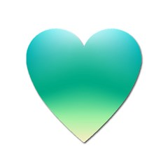 Sealife Green Gradient Heart Magnet by designworld65