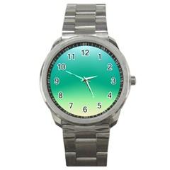 Sealife Green Gradient Sport Metal Watch by designworld65