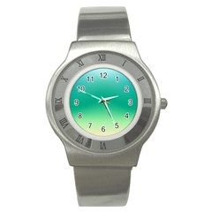 Sealife Green Gradient Stainless Steel Watch by designworld65