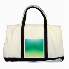 Sealife Green Gradient Two Tone Tote Bag by designworld65