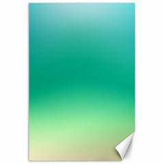 Sealife Green Gradient Canvas 24  X 36