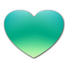 Sealife Green Gradient Heart Mousepads