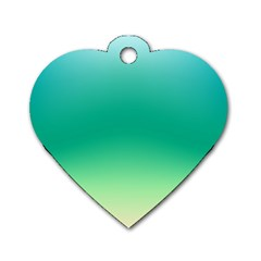 Sealife Green Gradient Dog Tag Heart (one Side) by designworld65