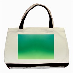 Sealife Green Gradient Basic Tote Bag (two Sides)