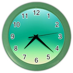 Sealife Green Gradient Color Wall Clocks