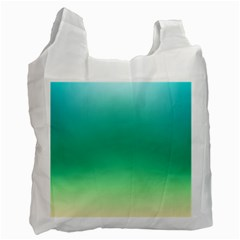 Sealife Green Gradient Recycle Bag (one Side)
