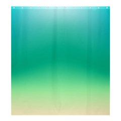 Sealife Green Gradient Shower Curtain 66  X 72  (large)