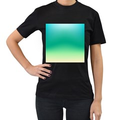 Sealife Green Gradient Women s T Shirt (black)