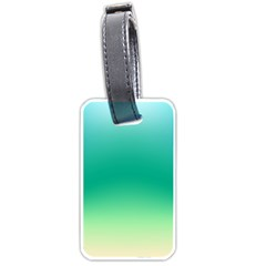 Sealife Green Gradient Luggage Tags (one Side)