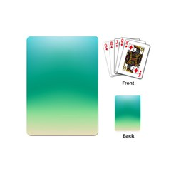 Sealife Green Gradient Playing Cards (mini)