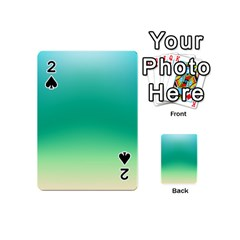 Sealife Green Gradient Playing Cards 54 (mini)