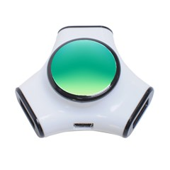 Sealife Green Gradient 3 Port Usb Hub
