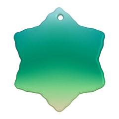 Sealife Green Gradient Snowflake Ornament (two Sides)