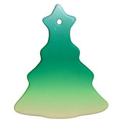 Sealife Green Gradient Christmas Tree Ornament (two Sides)
