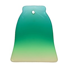 Sealife Green Gradient Bell Ornament (two Sides)
