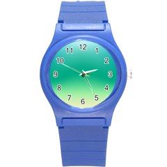 Sealife Green Gradient Round Plastic Sport Watch (s) by designworld65