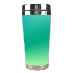 Sealife Green Gradient Stainless Steel Travel Tumblers by designworld65