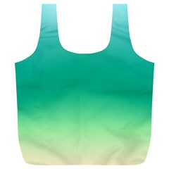 Sealife Green Gradient Full Print Recycle Bags (l)  by designworld65