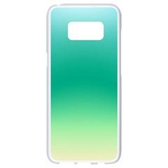 Sealife Green Gradient Samsung Galaxy S8 White Seamless Case
