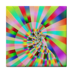 Irritation Funny Crazy Stripes Spiral Tile Coasters