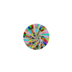 Irritation Funny Crazy Stripes Spiral 1  Mini Magnets by designworld65