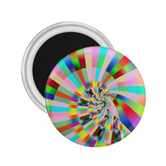 Irritation Funny Crazy Stripes Spiral 2 25  Magnets by designworld65
