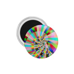 Irritation Funny Crazy Stripes Spiral 1 75  Magnets by designworld65