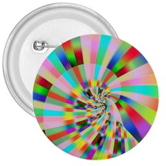 Irritation Funny Crazy Stripes Spiral 3  Buttons by designworld65