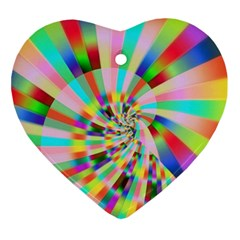 Irritation Funny Crazy Stripes Spiral Ornament (heart)