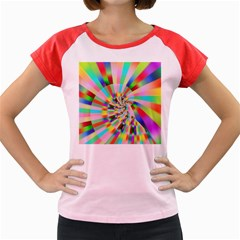 Irritation Funny Crazy Stripes Spiral Women s Cap Sleeve T Shirt