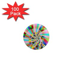 Irritation Funny Crazy Stripes Spiral 1  Mini Magnets (100 Pack)  by designworld65