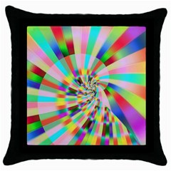 Irritation Funny Crazy Stripes Spiral Throw Pillow Case (black) by designworld65
