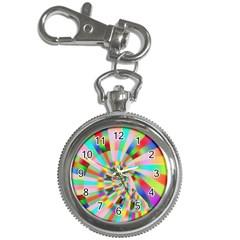 Irritation Funny Crazy Stripes Spiral Key Chain Watches by designworld65