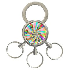 Irritation Funny Crazy Stripes Spiral 3 Ring Key Chains by designworld65