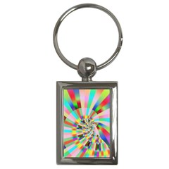 Irritation Funny Crazy Stripes Spiral Key Chains (rectangle)