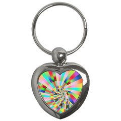 Irritation Funny Crazy Stripes Spiral Key Chains (heart)