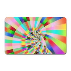 Irritation Funny Crazy Stripes Spiral Magnet (rectangular) by designworld65