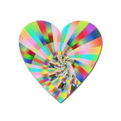 Irritation Funny Crazy Stripes Spiral Heart Magnet by designworld65