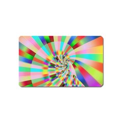 Irritation Funny Crazy Stripes Spiral Magnet (name Card) by designworld65