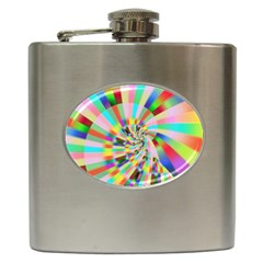 Irritation Funny Crazy Stripes Spiral Hip Flask (6 Oz)