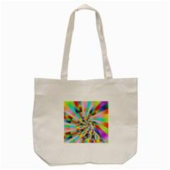 Irritation Funny Crazy Stripes Spiral Tote Bag (cream) by designworld65