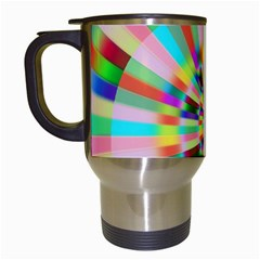 Irritation Funny Crazy Stripes Spiral Travel Mugs (white)