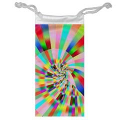 Irritation Funny Crazy Stripes Spiral Jewelry Bag by designworld65