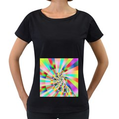 Irritation Funny Crazy Stripes Spiral Women s Loose Fit T Shirt (black)